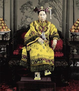 Empress Dowager Cixi and her 8-inch nails (covered with nail guards).