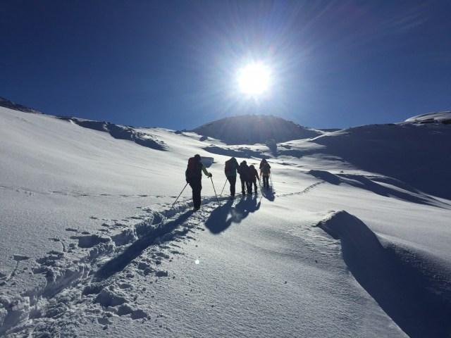 Schneeschuhwandern in den Tuxer Alpen