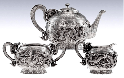 A circa 1885 tea set by Tu Mao Xing, Jiujang