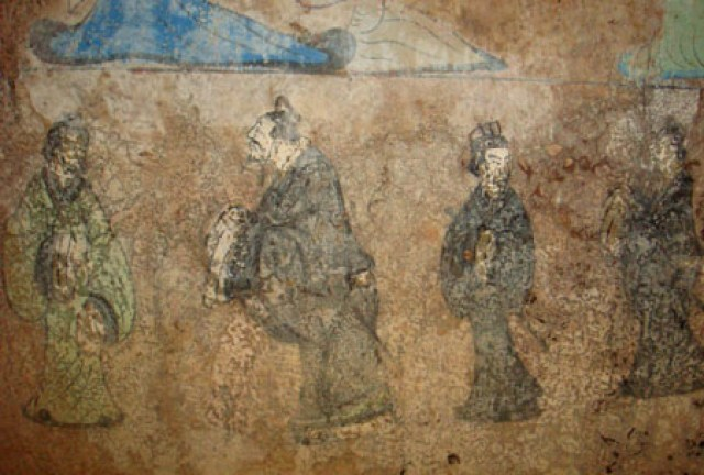 Western Han Fresco of Confucius and Lao Tse