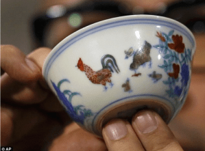 Ming Dynasty Chicken Wine Cup