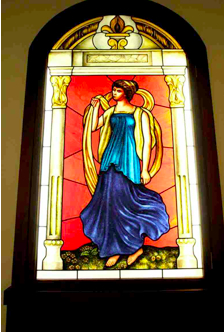 Tou Se We stained glass panel:1