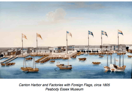 Canton Harbour 1805