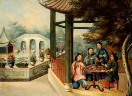 Chinese ladies taking tea - early 19th century