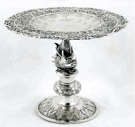 Chinese Export Silver Hung Chong Tazza circa 1895