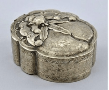 Chinese Export Silver Wu Hua Box
