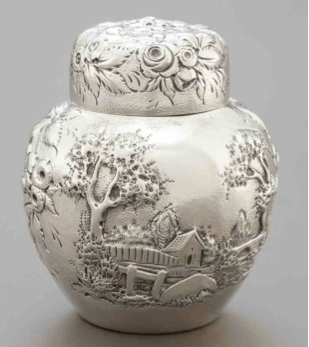 Kirk & Son Silver Ginger Jar