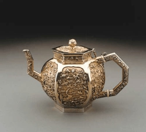 Chinese Export Silver circa 1680 teapot