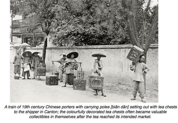#ChineseExportSilver - Chinese Coolies carrying tea chests
