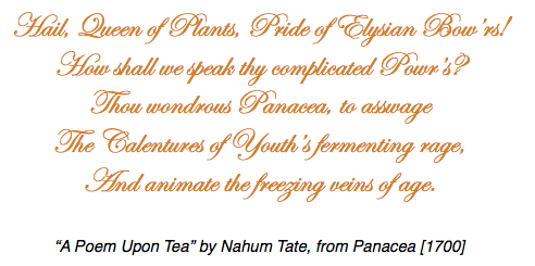 #ChineseExportSilver - A Poem Upon Tea - Panacea 1700