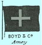 Chinese Export Silver: Boyd & Co. Amoy logo