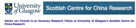 Adrien von Ferscht at University of Glasgow