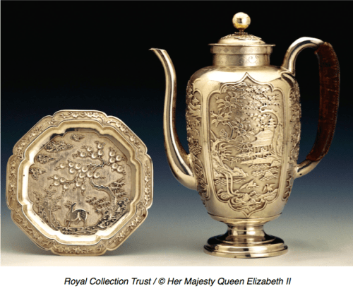 Chinese Export Silver 17th century coffee pot