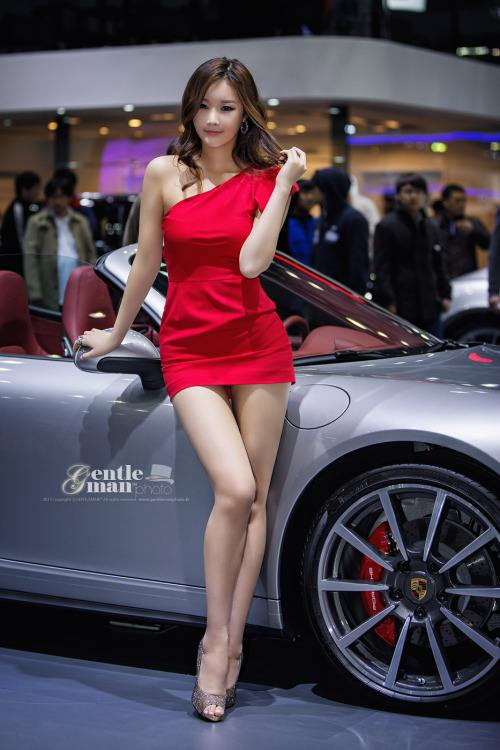 asian car girl show