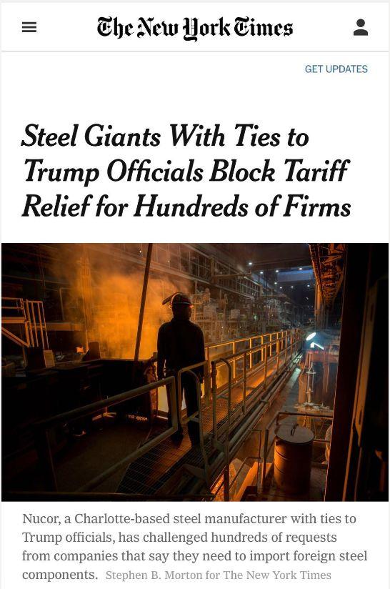 美国钢铝贸易战国内第一回合:几家欢喜几家愁