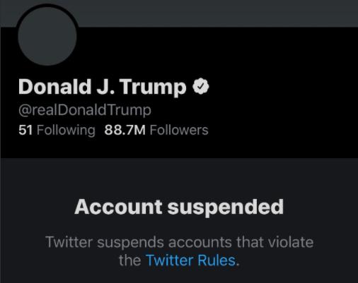 川普推特账号被封,即将下台前面临第二次被弹劾