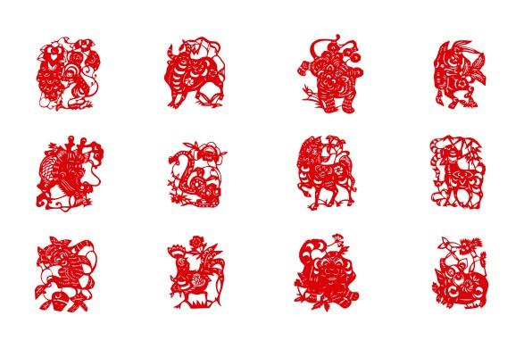 Chinese New Year zodiac animals