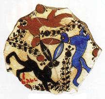 Фрагмент керамики из трех зайцев