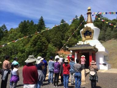 Prayer at Stupa