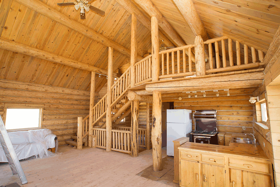 clear coat for log home interior