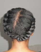 Jumbo flat twist crown on natural hair 3