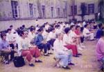 1996年に本部の24日間コースの練功に参加する日本の皆さん