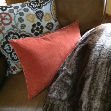 decorate with accent pillows