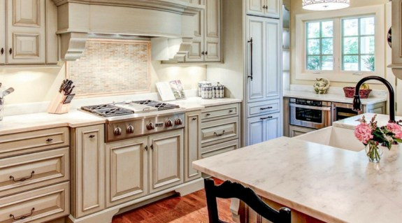 Redesign your kitchen with updated cabinets, counters, and backsplashes.