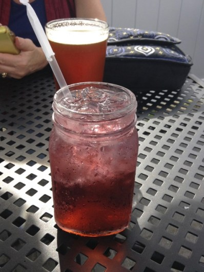 A cool and refreshing Blackberry Spritzer enjoyed on a seaside patio in Connecticut. I hear my muse calling me.