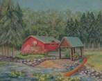 "8X10"" Acrylic painting of the Green Bay Wildlife Sanctuary."