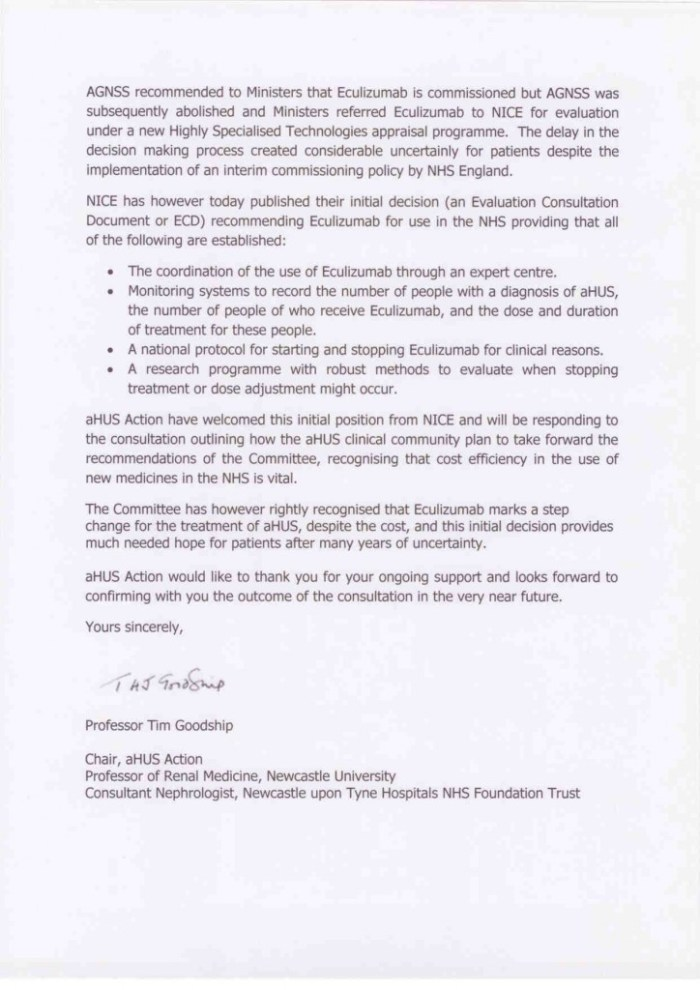 AHUS ACTION letter 04 Sept 20142
