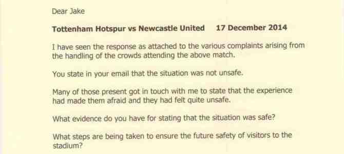 Tottenham Hotspur v Newcastle United  17 December 2014