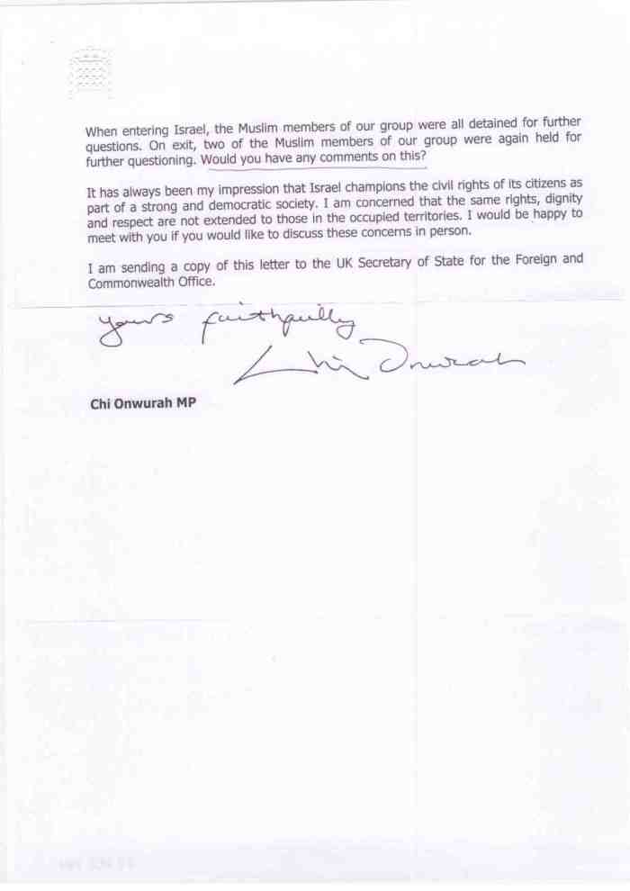 Letter to Ambassador of Israel p2 24 September 2014