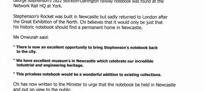 George Stephenson's 1822 notebook