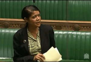 Chi speaking in the House of Commons