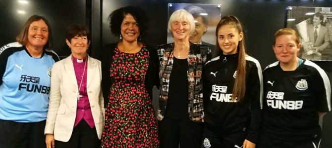 At Saint James' Park the FA's Baroness Campbell set out plans to double the number of Women & Girls in the beautiful game