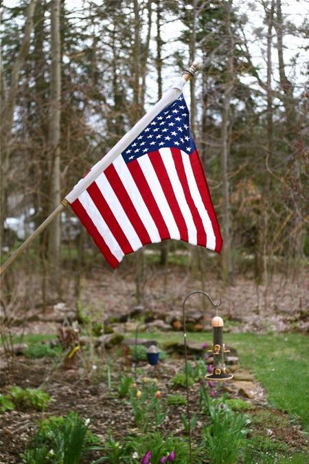 flag-in-the-garden