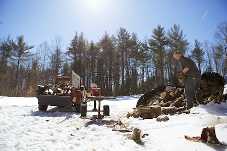 splitting wood 5