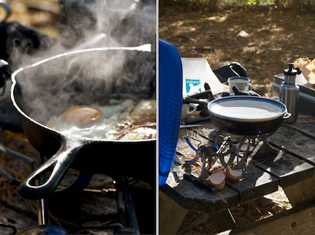 camping cast iron
