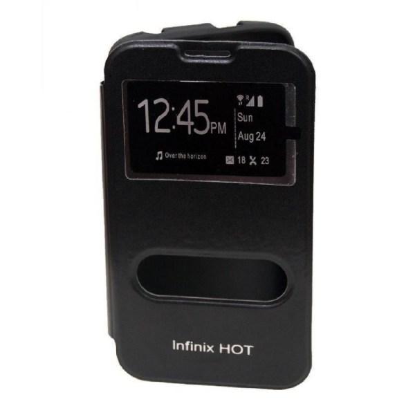 Universal Infinix Hot X507 Flip Cover - Black