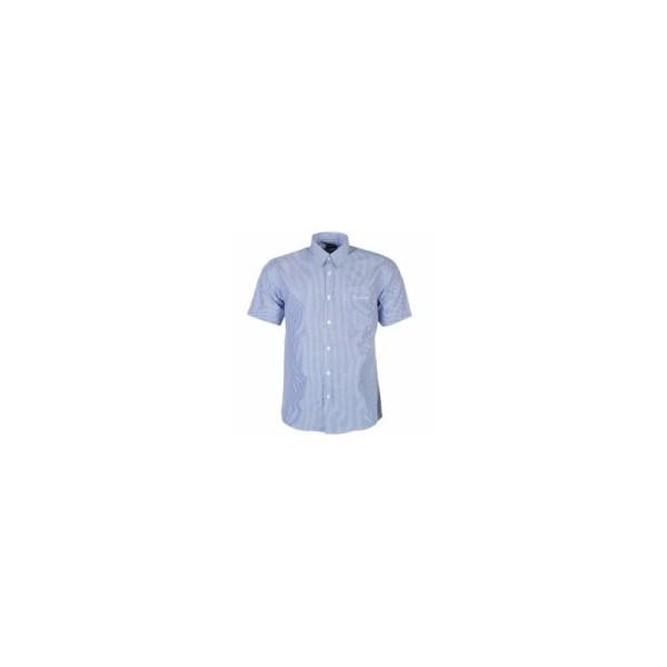 Pierre Cardin Men's Stripe Short Sleeve Shirt - Blue & White