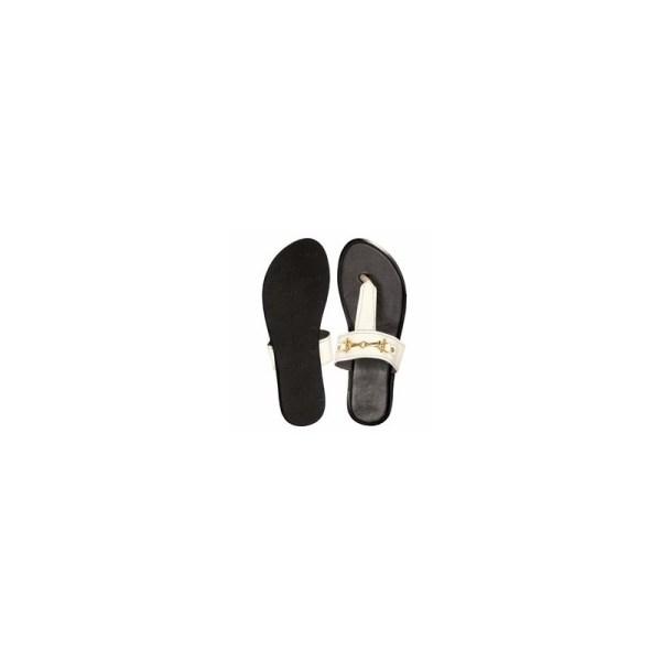 Women's Flip Flops Thong Flat Leather Slippers