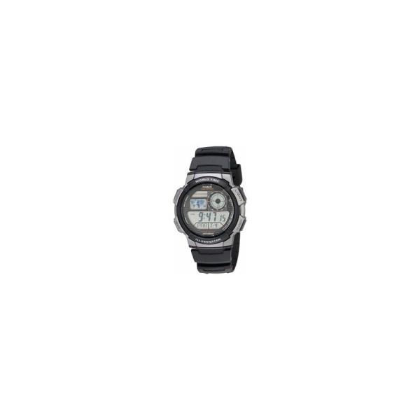 Casio Men's Ilumminator Rubber Strap Wristwatch - Black