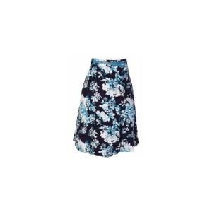 Papaya Belted A-Line Silk Midi Skirt - Multicolour