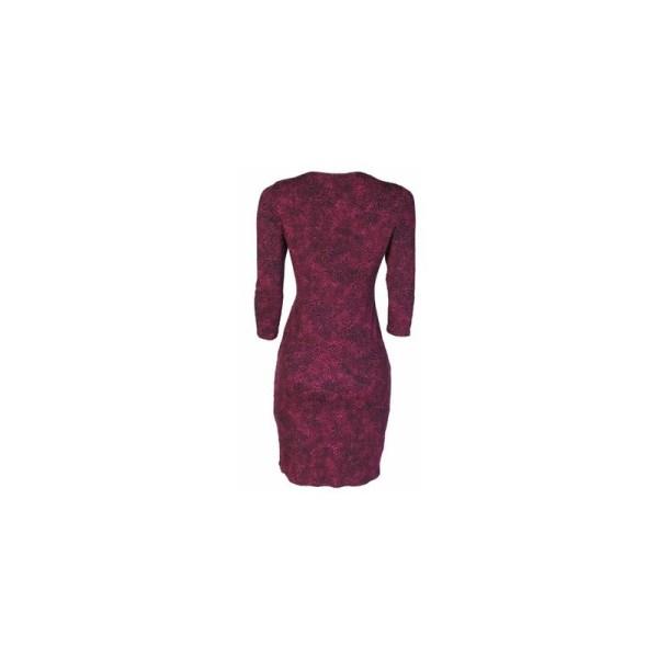 Papaya Knot Tie Detailed Bodycon Dress