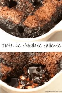Torta de chocolate caliente. Perfecta con un poco de helado.