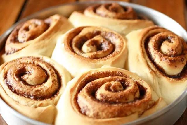 Homemade, Fluffy Cinnamon Rolls baked