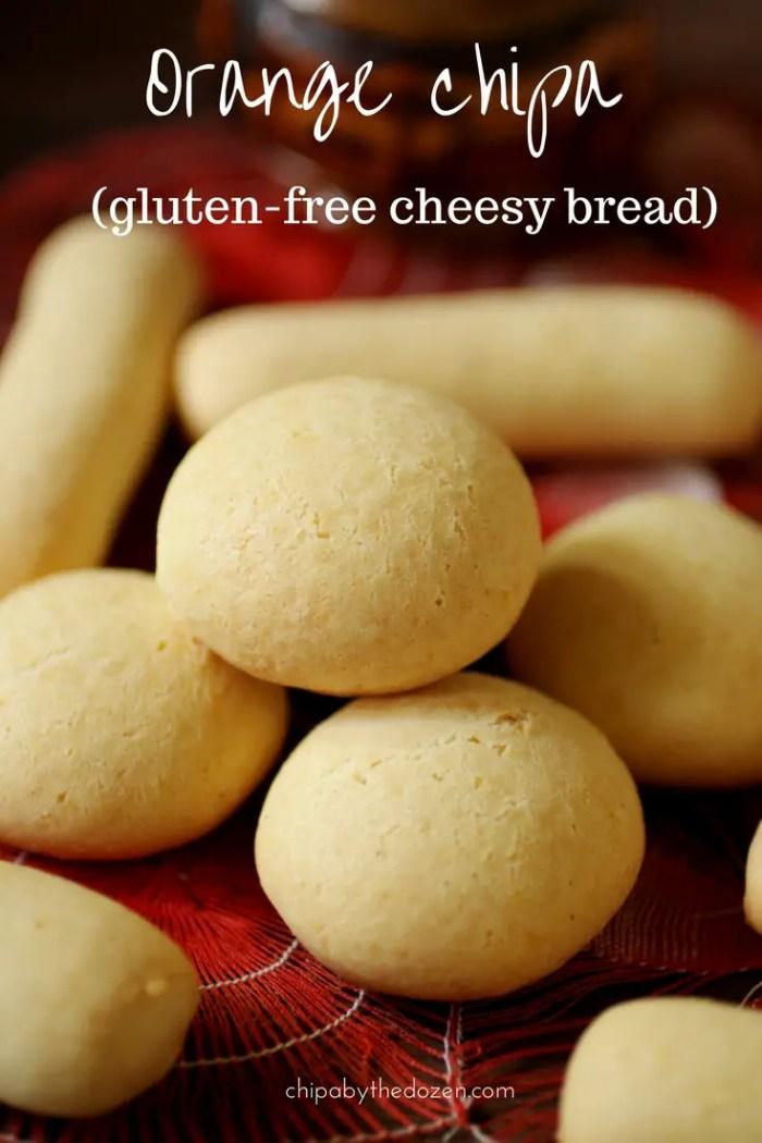 Orange chipa (gluten-free cheesy bread)