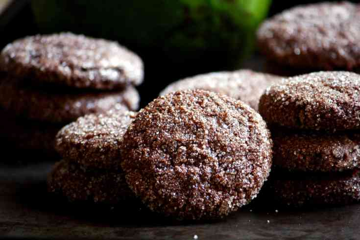 Chocolate avocado cookies (dairy-free)