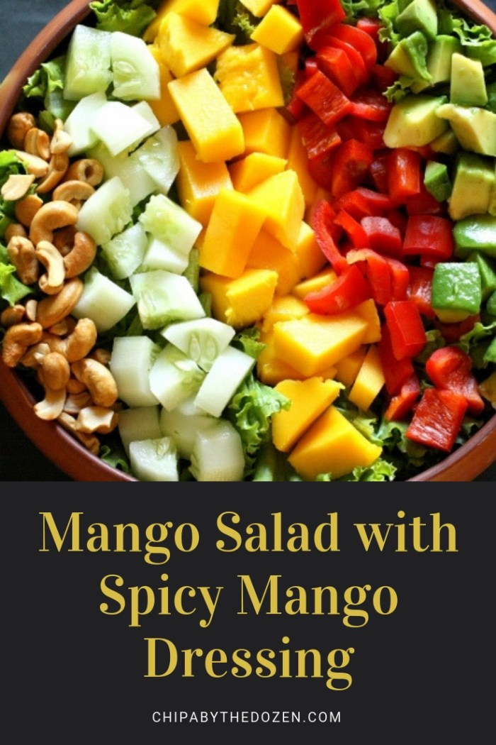 Mango Salad with Spicy Mango Dressing